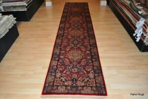 On Sale 12 Long Top Quality Beautiful Great Quality Handmade Runner Red Navy