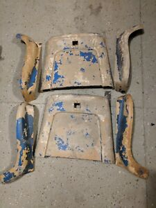 Gm 1969 1972 Chevelle Bucket Seat Back Bottom Sides Plastic Trim Covers 69 70 72