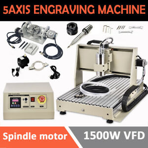 5 Axis 1 5kw Engraver 6040 Cnc Router Engraving Machine Metal Carving Ball Screw