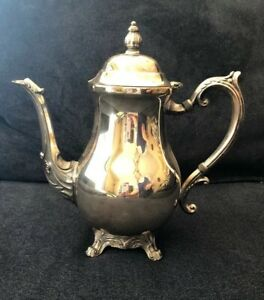 Vintage F B Rogers Silver Co Trademark 1883 Coffee Tea Pot Silver Plated 2352