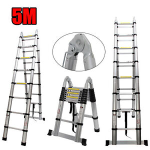 Multi position Telescoping Ladder Extension Folding Roof Step Telescopic A Type