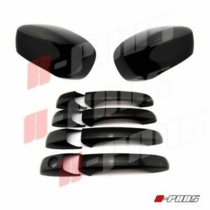 For 2005 06 07 08 09 10 Chrysler 300 300c Mirror 4 Door Handle Black Gloss Cover
