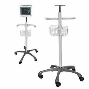 Mobile Trolley Cart Stand For Contec Brand Icu Patient Monitors us Seller