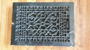 Antique Cast Iron Metal Grate Vent Floor Wall Register Cover Heating