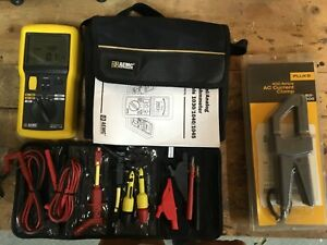 Aemc 1040 Megohmmeter Electrician Test Meter Kit Fluke Pomona Leads Clamp Bag