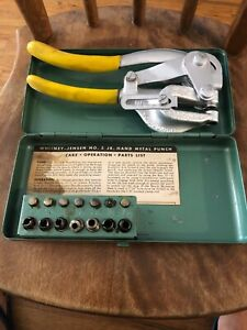 Roper Whitney Punch No 5 Jr With Metal Case And Instruction Sheet