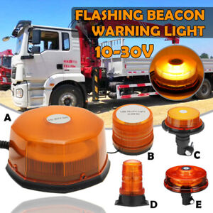 Roof Led Emergency Flashing Amber Beacon Strobe Tractor Warning Amber Light New