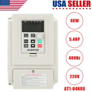 4kw 5 4hp Variable Frequency Drive Inverter Cnc Motor Speed Single To 3 phase Us