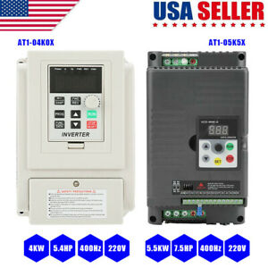 4kw 5 5kw 400hz Single phase Vfd Inverter Frequency Converter 220v To 3 phase Us