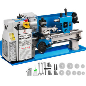 7 x14 Mini Metal Lathe 550w Precision Metalworking Variable Speed Milling