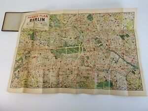 Vintage Antique Pharus Plan Berlin Pocket Map Booklet 1903 1930 S Wwi Wwii Rare