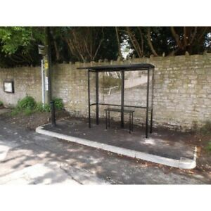 New Open Front Smoking Shelter Half Side Panels 7 w X 3 6 d X 7 11 h Alum Roof
