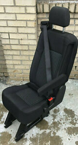 2015 2018 Ford Transit Van 1 Person Rear Seat Black Cloth With 3 Legs