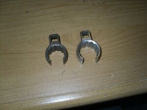 Snap On 2pc 3 8 Dr Sae 7 8 1 12 Point Flare Nut Croowfoot Wrench