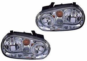 New Chrome Headlight Pair For 2002 2003 2004 Fleetwood Southwind