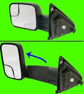2004 2005 2006 2007 08 Dodge Ram 1500 2500 Lh Driver Side Manual Tow Mirror New