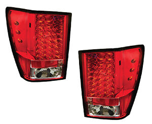 For Jeep Grand Cherokee Led Tail Light Pair Ruby Red 2005 2006