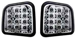 2007 2008 09 Hummer H3 Crystal Clear Custom Led Front Parking Signal Light Pair