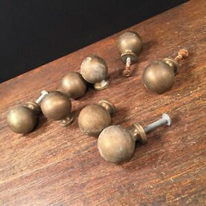 Vtg Brass Drawer Pulls Lot 8 Heavy Dresser Desk Cabinet Knobs Priority Mail