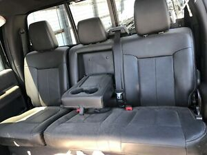 Ford F250 F350 Super Duty Truck Crewcab Black Rear Leather Bench Seats