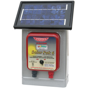 Solar Pak Electric Fence Charger 6 Low Impedance 6v Battery operated 25m Range