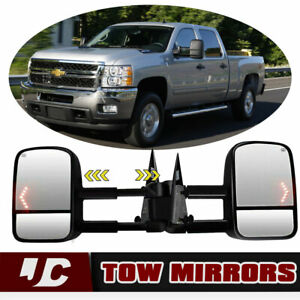 New Arrival Tow Mirrors For 03 06 Chevy Silverado Gmc Sierra Power Heated