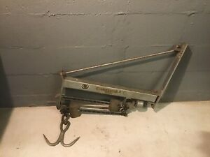 Antique Chatillon Industrial Wall Scale 600 Lb Hardware General Store Butcher