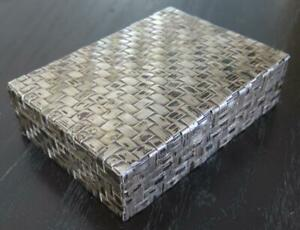 Vintage Mexican Sterling Silver Woven Box By Jacopo Brothers Stunning 401 Grams