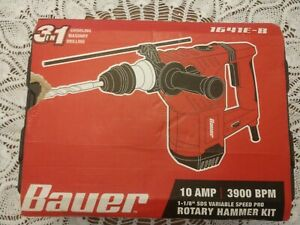 Bauer 1 1 8 Sds 10 Amp Variable Speed Pro Rotary Hammer Kit 1641e b New