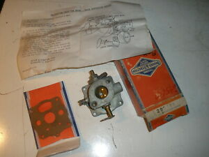Vintage Nos Briggs Stratton Gas Engine Upper Carburetor Body 295608 Flo jet