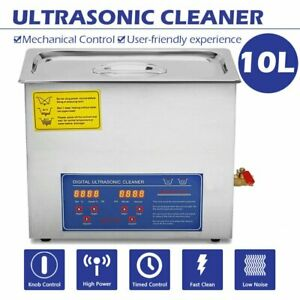 10 L Liter Stainless Steel Industry Heated Ultrasonic Cleaner Heater W timer Us