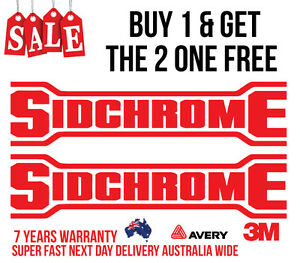 2 X Sidchrome Decals Stickers For Tools Mechanic Cars Utes Boats 4wd