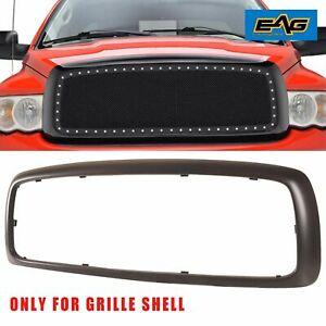 Grill Shell Matte Black Abs Plastic Fits For 03 05 Dodge Ram 1500 2500 3500