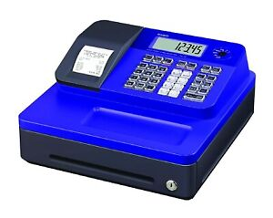 Casio Electronic Thermal Print Blue Cash Register Blue