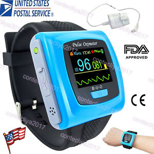 Us Seller Cms50f Wrist Pulse Oximeter daily Overnight 24h Record oled Pc Sw Fda