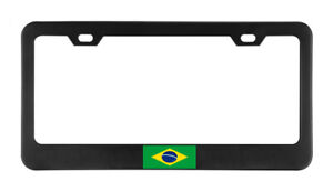 Brazil Flag Country American Flags Foreign License Plate Frame Tag Holder Bumper