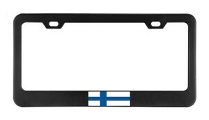 Finland Flag Country American Flags Foreig License Plate Frame Tag Holder Bumper