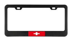 Switzerland Flag Country American Flags Fo License Plate Frame Tag Holder Bumper