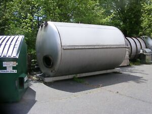 5 000 Gallon Horizontal Jacketed Stainless Steel Tank W Mixer On Frame In Nj