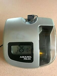 Amano Pix 55 Time Clock With Key In Good Working Order