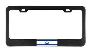 Isreal Flag Country American Flags Foreign License Plate Frame Tag Holder Bumper