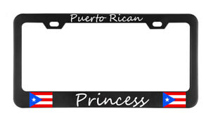 Puerto Rican Princess Puerto Rico License Plate Frame Tag Holder Bumper
