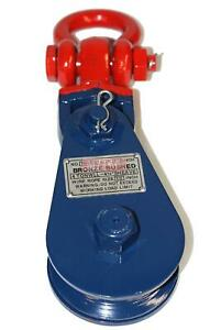 4 Ton Snatch Block W Shackle Wire Rope Sheave Tow Shackle Tree Sling Wrecker