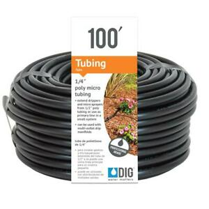 Poly Tubing Drip Emitters Irrigation Sprinkler Tube Hose Lawn 1 4 In X 100 Ft