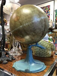 Art Deco C S Hammond 9 Inch Terrestrial Table Globe New York Brooklyn 1930s