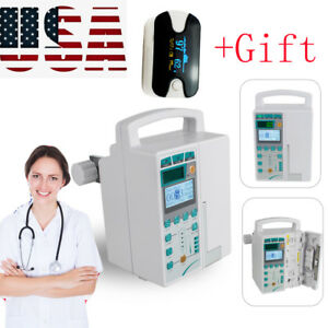 Medical Infusion Pump Iv Fluid Voice Alarm Lcd Monitor Kvo Purge Machine gift Us