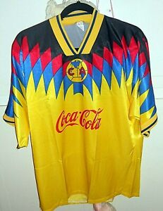 189d6436693 80s Vtg Men Coca-Cola Mexico CA Futbal Football Atletica Soccer Jersey  Shirt 42