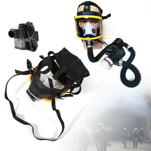 Portable Electric Constant Flow Air Full Face Gas Mask Painting Respirator