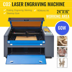 Upgraded 40w Co2 Laser Engraver Cutter Water Break Protection 300 200mm