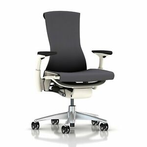 Herman Miller Embody Ergonomic Office Chair With White Frame titanium Base Ful
